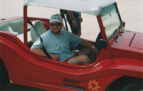 Tony in a sand buggy