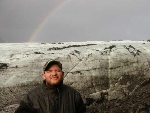 Tony at Myrdalsjokull glacier