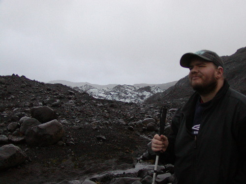 Tony at Myrdalsjokull peak
