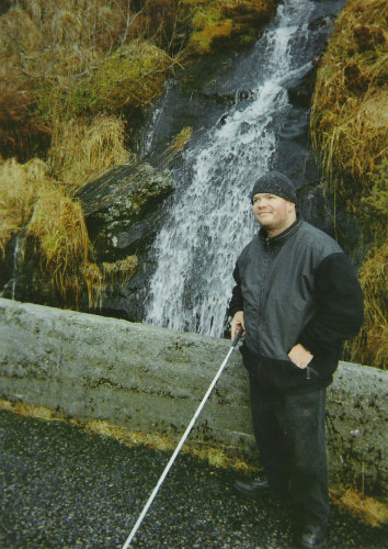 Tony on his way up to Floyen Mountain, Bergen