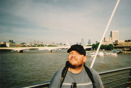 Tony on Millennium Bridge