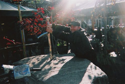 Tony trying to retrieve excalibur's sword. Christiania